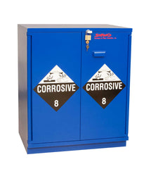 "SC1430 Under-the-Counter, Corrosive Cabinet, Partially Lined, 29"", Blue"