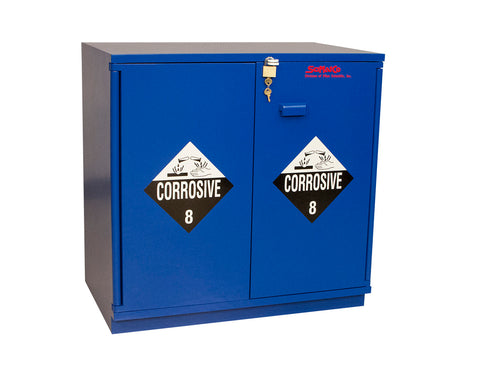 "SC1436 Under-the-Counter, Corrosive Cabinet, Partially Lined, 35"", Blue"