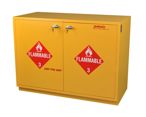 "SC1823 Under-the-Counter, Flammables Cabinet, 23"", Right Hinge, Self-Closing Doors"