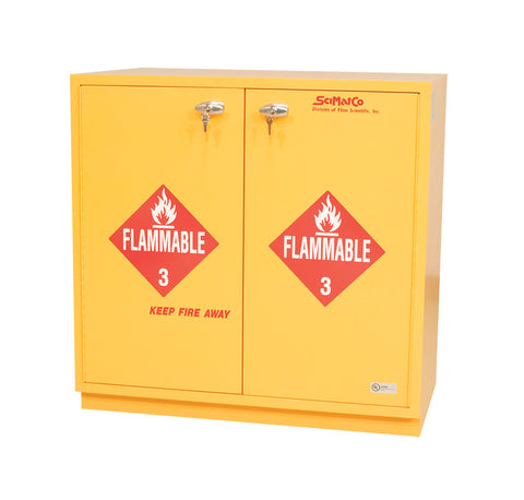 "SC1836 Under-the-Counter, Flammables Cabinet, 35"", Yellow"