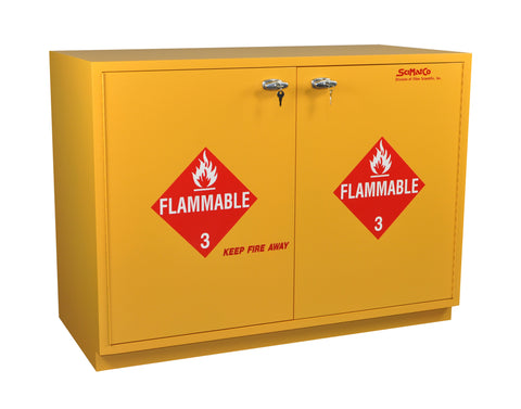 "SC1847 Under-the-Counter, Flammables Cabinet, 47"", Self-Closing Doors"
