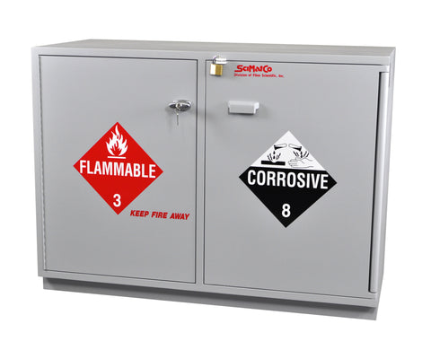 SC2048 Under-the-Counter, Combination Acid/Flammables Cabinet, Partially Lined, 47""