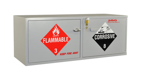 SC2063 Stak-a-Cab™ Combination Acid/Flammables, Self-Closing Door on the Flammables Side
