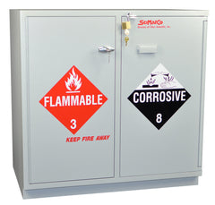 "SC2237 Under-the-Counter, Combination Acid/Flammables Cabinet, Fully Lined, 35"", Self-Closing Door"