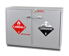 "SC2247 Under-the-Counter, Combination Acid/Flammables Cabinet, Fully Lined, 47"", Self-Closing Door"