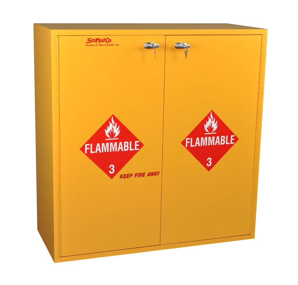 SC7134 54 Gallon Flammables Cabinet With Flame Arrestors And Self Closing  Doors
