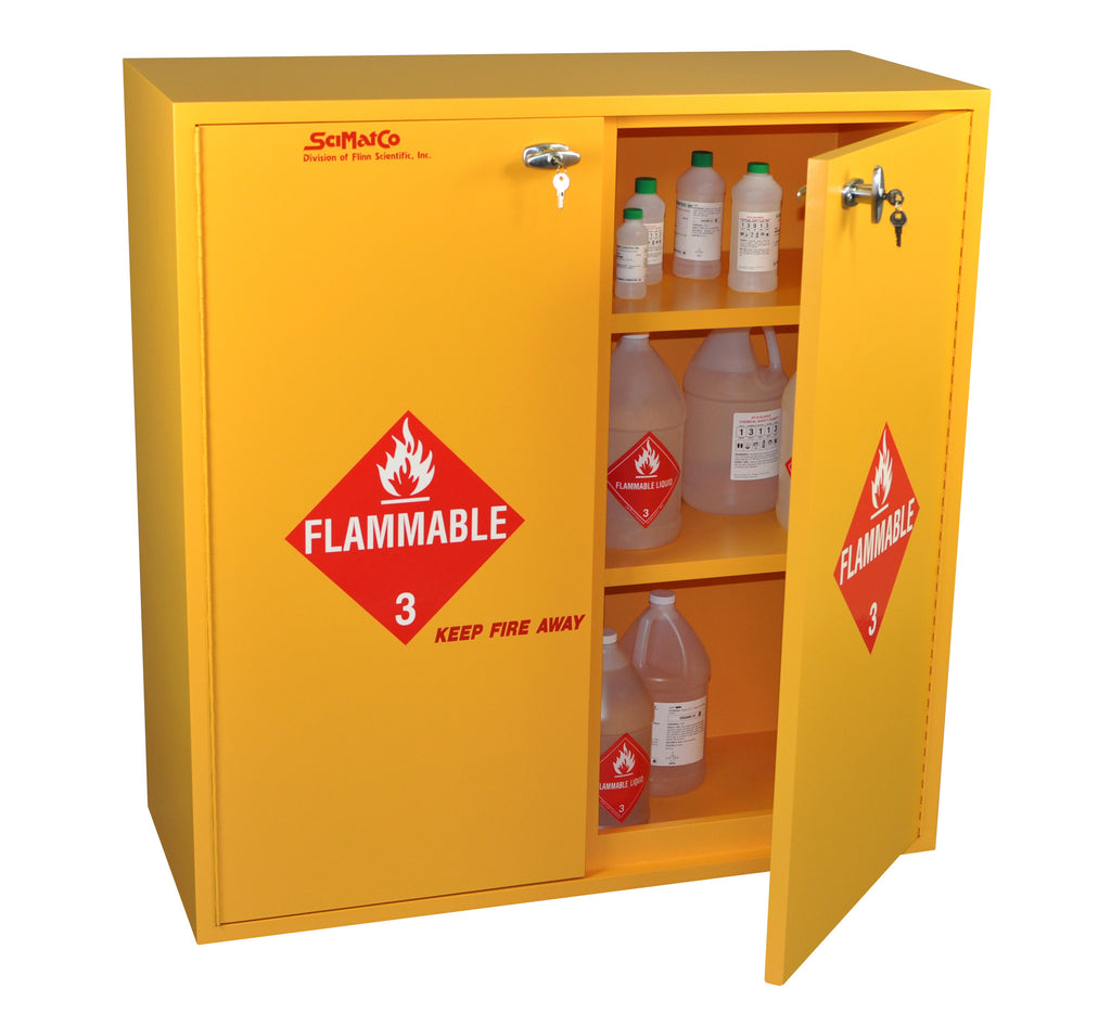 Yellow Flammable Cabinet Sc7131 54 Gallon Flammables Cabinet Scimatco