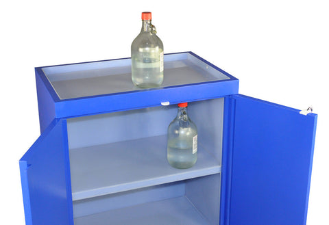 SC8052 Floor Corrosive Cabinet, Fully Lined, Top Tray