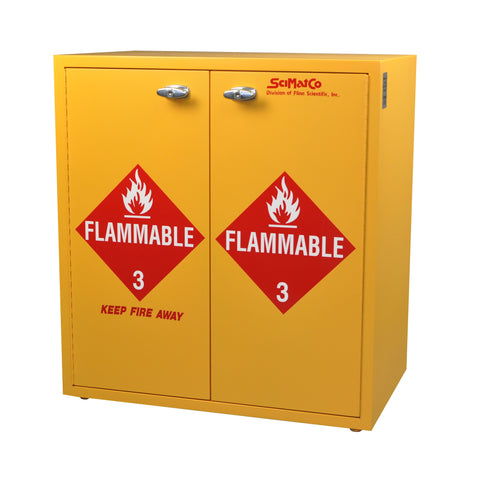 SC8079 Jumbo Stacking Flammables Cabinet, Self-Closing Doors