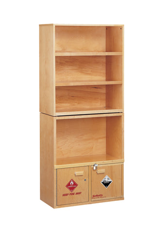 SC6012 Shelving Unit, with Combination Acid/Flammables Cabinet
