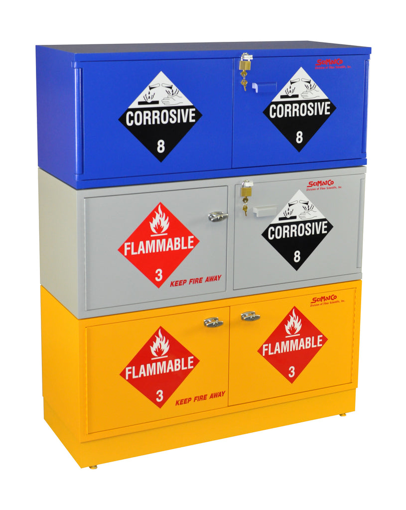 Yellow Flammable Cabinet Sc1863 Stak A Cab Flammables Cabinet Self Closing Doors Scimatco