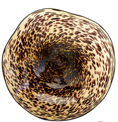Leopard Art Glass Bowl (Two Sizes)