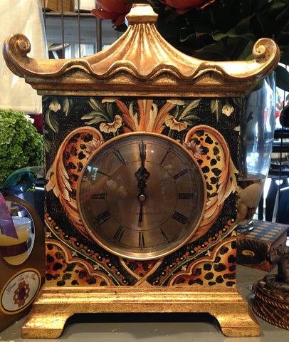 French Leopard Clock