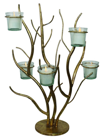 Italian Gold Twig Tabletop Votive Holder