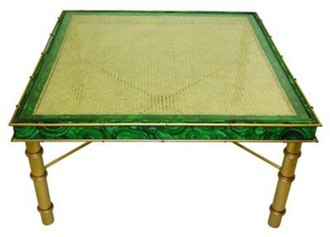 Gold Square Iron Cocktail Table