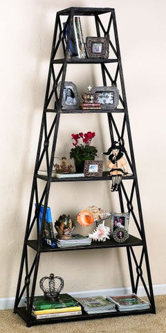 Gold Iron Six Shelf Pyramid