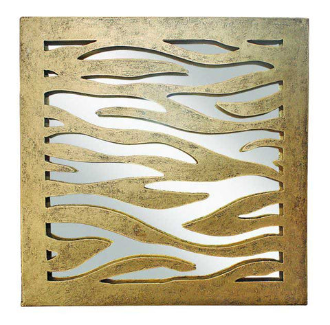 Antique Gold Cut Out Zebra Pattern Mirror