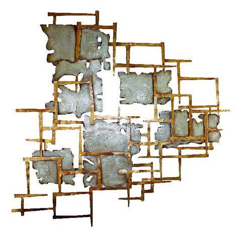 Gold and Platinum Abstract Wall Art
