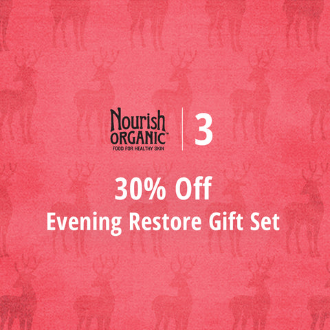 12 Days of Nourish - 30% off evening restore gift set