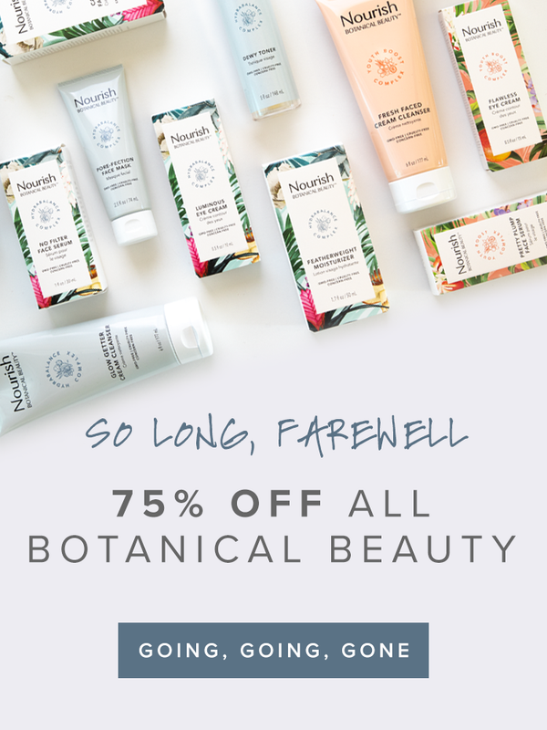 Last Call: 75% Off All Nourish Botanical Beauty (while supplies last)