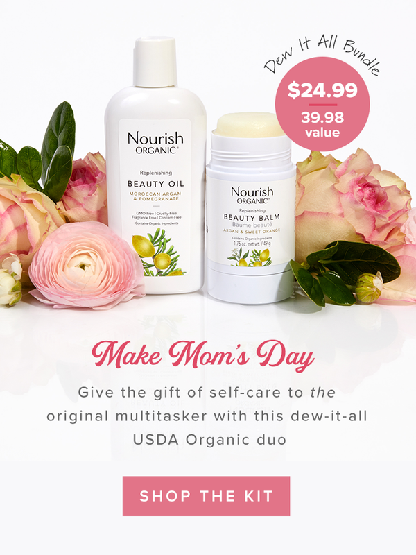 Make Mom's Day: Gift this exclusive Dew It All Bundle for Mother's Day! Bundle includes full-size Replenishing Beauty Oil and Replenishing Beauty Balm for $24.99 ($38.98 value)