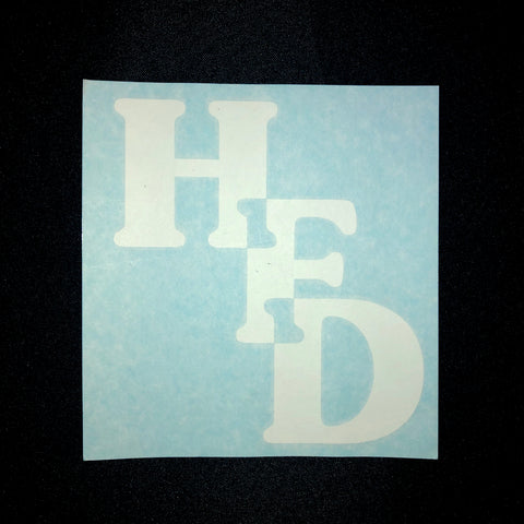 Decal - Stacked HFD in White