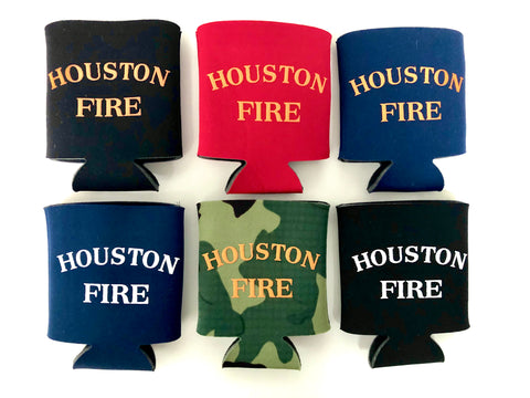 Houston Fire Koozies
