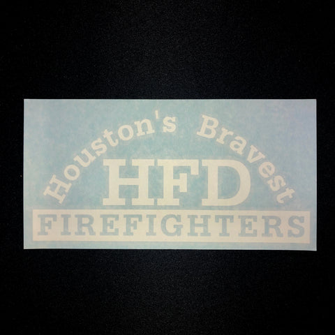 Decal - Houston's Bravest in White
