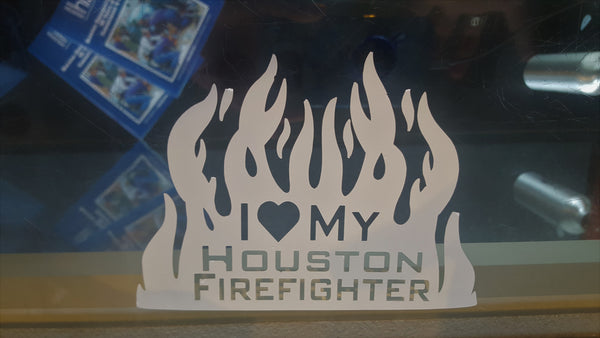 I Love My Houston FF Decal