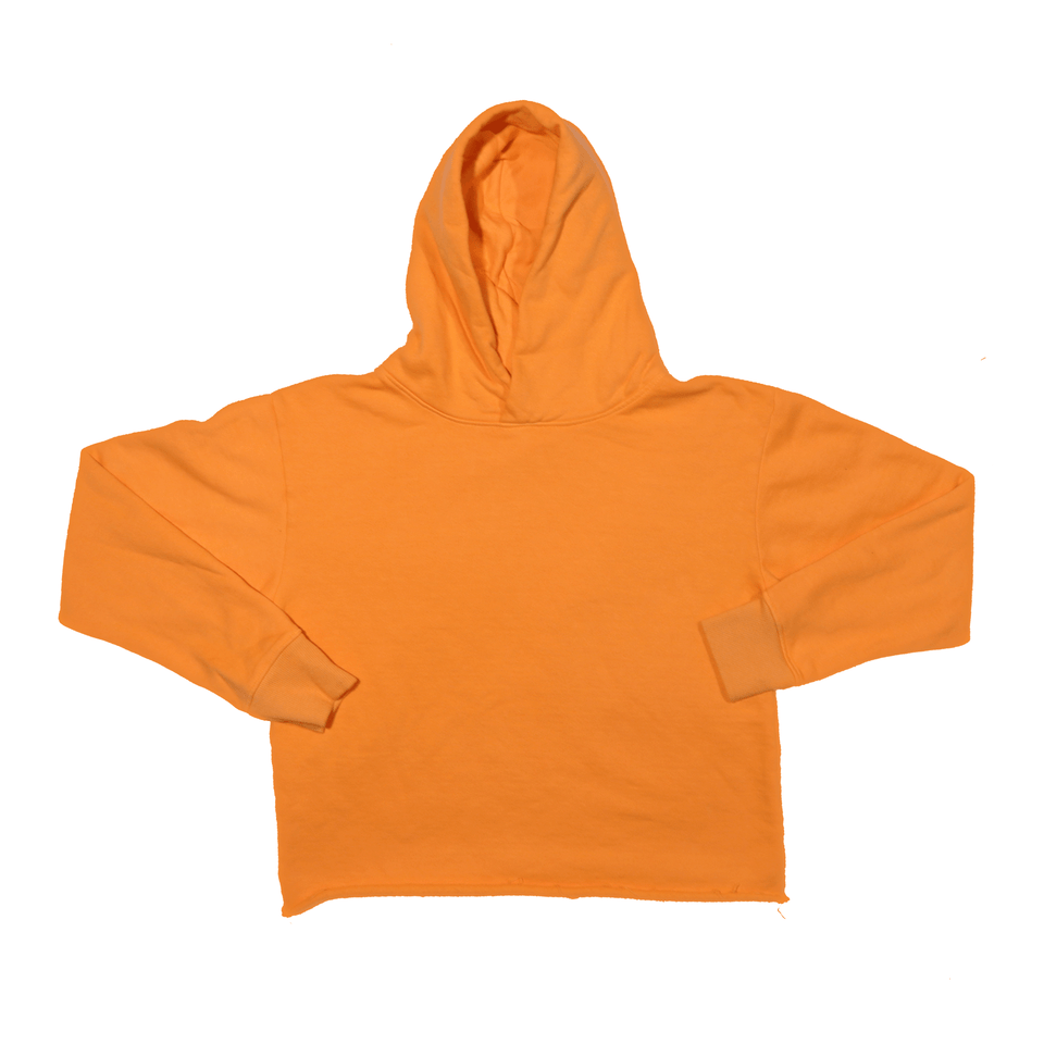 Orange Raw Hoodie