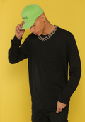 eco-HYBRID BLACK LONG SLEEVE TEE