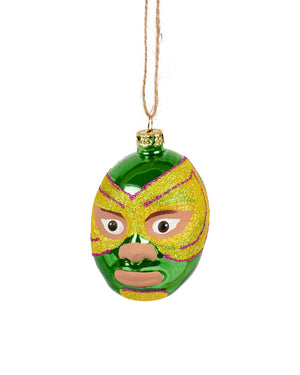 Cody Foster Mexican Wrestler Head, Green & Yellow