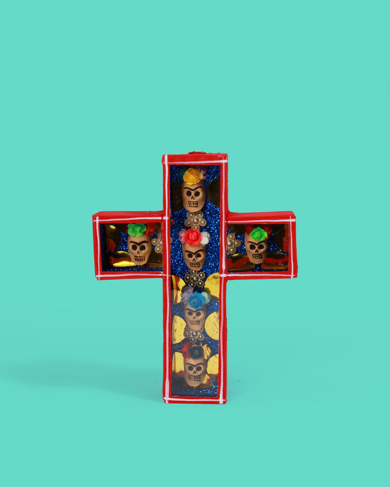 Frida Cross Retablo, Red
