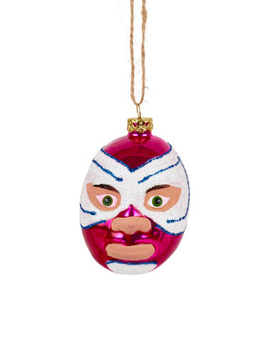 Cody Foster Mexican Wrestler Head, Pink & White