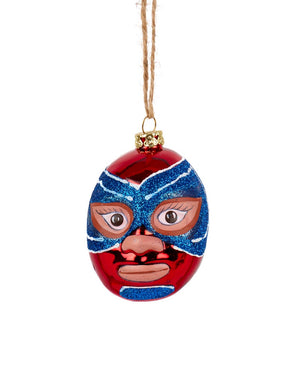 Cody Foster Mexican Wrestler Head, Red & Blue