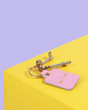 Load image into Gallery viewer, Boobs Key Fob, Baby Pink