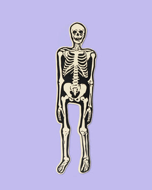 Load image into Gallery viewer, Skeleton Bookmark, Ivory & Black