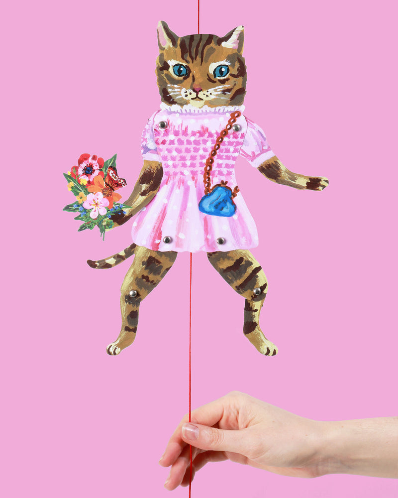 Nathalie Lété Cat Puppets, Set of 2