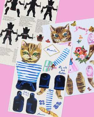 Load image into Gallery viewer, Nathalie Lété Cat Puppets, Set of 2