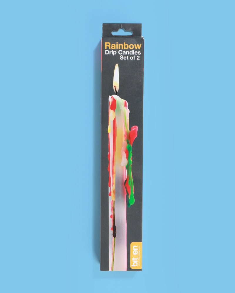 Rainbow Drip Candle, Set of 2