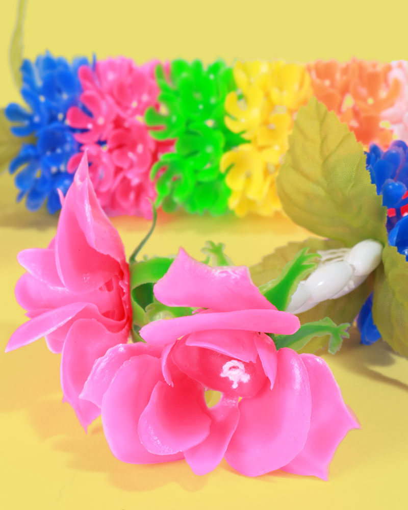 Fluorescent Flower Garland, Set of 2