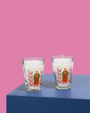 Guadalupe Votive Candle, Set of 2