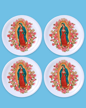 Guadalupe Melamine Plate, Set of 4