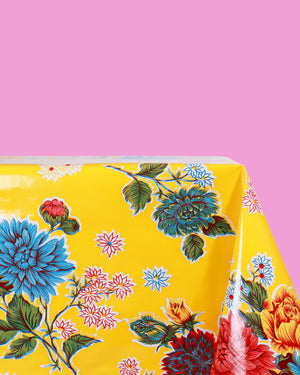 Cristantemos Oilcloth, Yellow