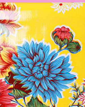 Load image into Gallery viewer, Cristantemos Oilcloth, Yellow