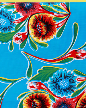 Load image into Gallery viewer, Floral Oilcloth, Blue