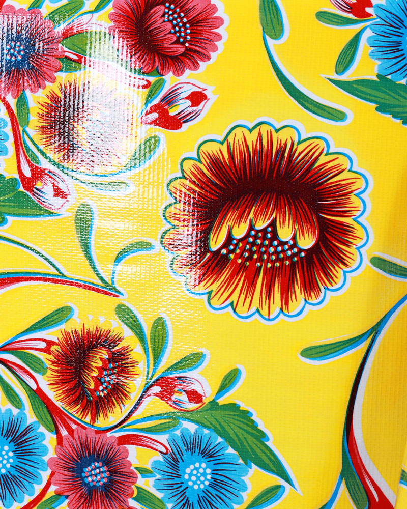 Floral Oilcloth, Yellow