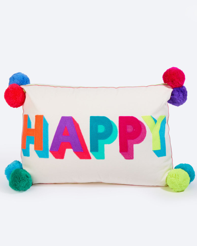 Load image into Gallery viewer, Happy Multicoloured Cushion