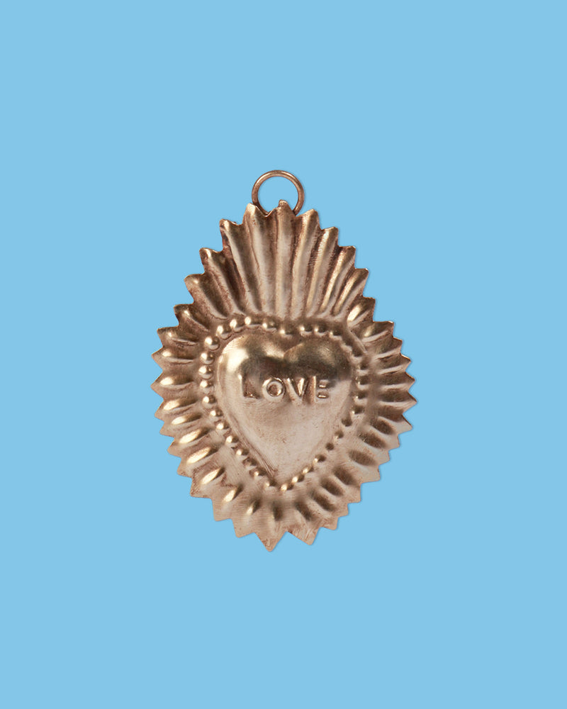Load image into Gallery viewer, Ex-Voto Love Heart, Silver