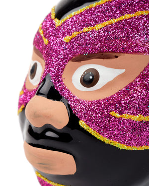 Cody Foster Mexican Wrestler Head, Black & Pink